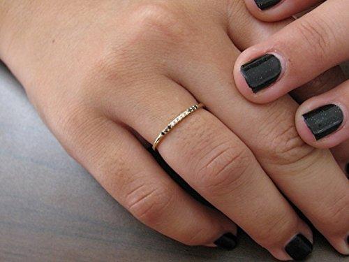 Promise Ring Diamond Engagement Ring Black And White Diamond Wedding Band 11 Stones Anniversary Ring Diamond Wedding Ring Women