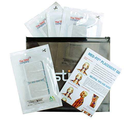 Med Fit Electrode Pads Combination Pack 16 x 5x5cm and 4 x 5x10cm Self Adhesive Electrodes with CE Approved Medical Gel Skin Friendly and Non Irritating