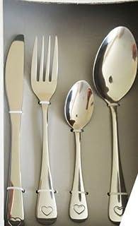 yichengshangmao 4 Pezzi//Set di stoviglie da tavola placcate in Oro per la Forcella della Forcella Set Oro Posate Set inacciaio in Acciaio Intagliato stoviglie intagliate Oro