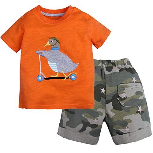 CARETOO 2tlg Babykleidung Set Baby Jungen Kleidung Langarm Tops + Hose Set Herbst Warme Babyset Neugeborene Weiche Warme Babyset