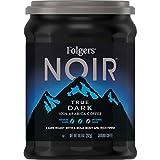 Folgers Noir True Dark Dark Roast Ground Coffee, 10.3 Ounces (Pack of 6)