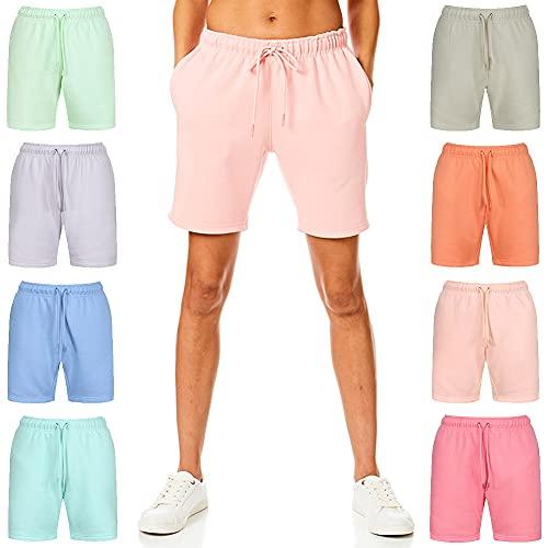 Light & Shade Pantalones Cortos para Mujer Ligeros y Sombra, de Tacto Suave, para Correr, Pantalones Cortos, Mujer, Pantalones Cortos, LSLSHO007_Rose_M, Rosa (b), M