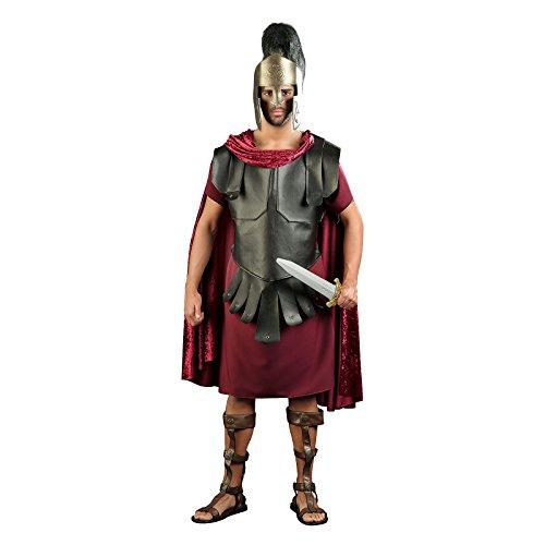 Elbenwald Römer Herren Komplett Kostüm Antike Tunika für Karneval rot schwarz - L