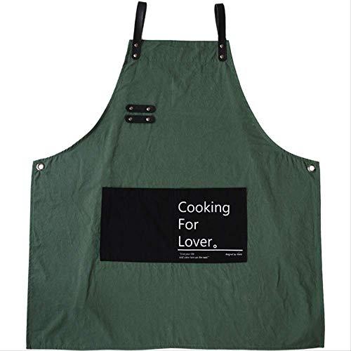 nobrand FJSD Baumwollschürze, für Zuhause, Küche, Kochen, Männer und Frauen, modische Latzhose
