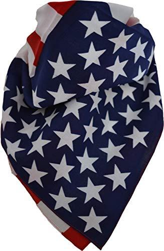 normani 3 × Rocker & Biker Bandana Cap Kopftuch Halstuch in vielen Ausführungen Farbe USA-Fahne