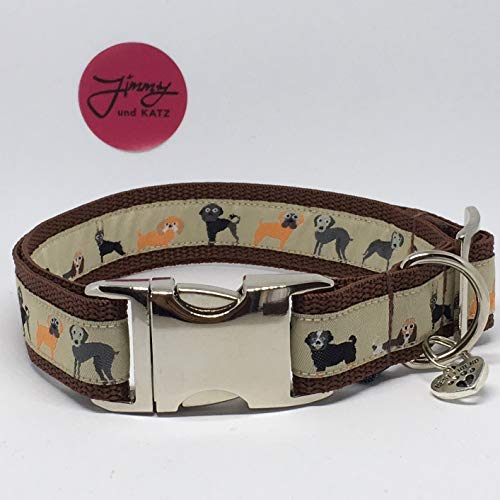 Jimmy und Katz Collar para Perros WAU, 35-58 cm x 2,5 cm
