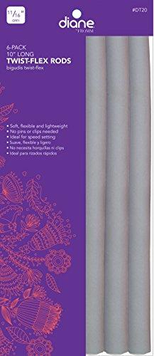 """Diane DT20 10"""" Twist-Flex Rods, Grey, 11/16 Inch width (Pack of 6)"""