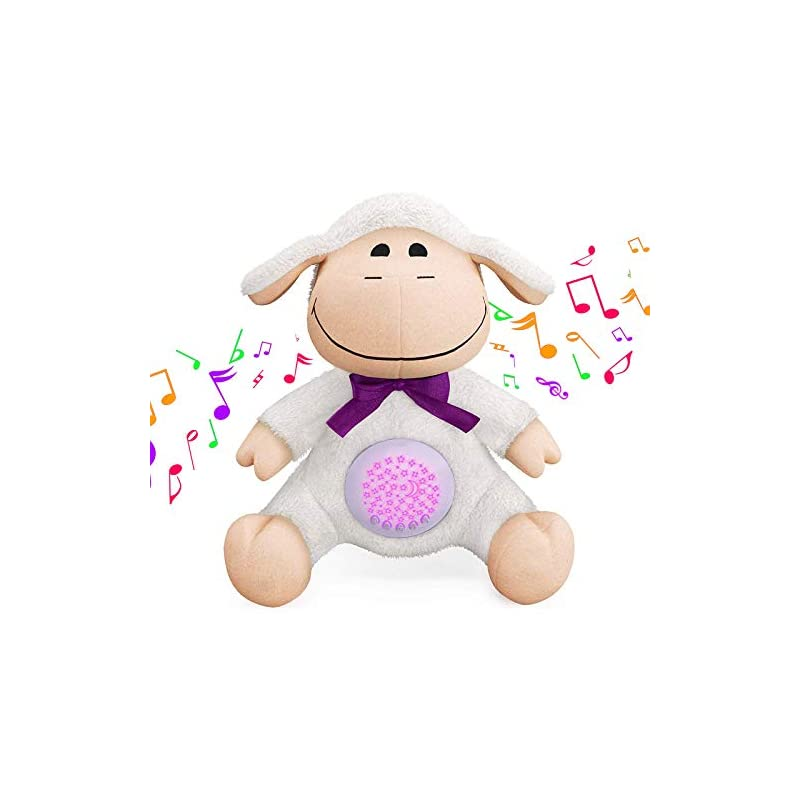 crib bedding and baby bedding baby sleep soothers, baby portable sound machine & star projector, auto-off timer & volume control toddler sleep aid night light, 15 lullabies, white noise, and heartbeat sounds (sheep)