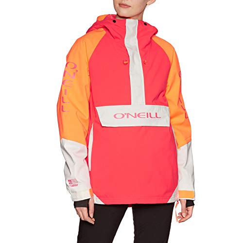 O'Neill Damen PW ORIGINAL Anorak Jackets Snow, Neon Flame, S