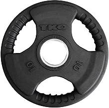 TKO Olympic Urethane Tri-Grip Plate, 10 lb