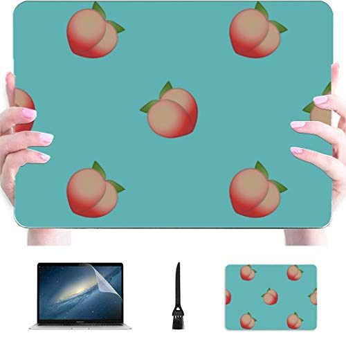 Macbook Cover 13 Inch Hand Drawing Simple Peaches Plastic Hard Shell Compatible Mac Air 13' Pro 13'/16' Macbook Case Protective Cover For Macbook 2016-2020 Version