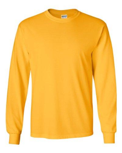 Gildan - Adult Ultra Cotton Long-Sleeve T-Shirt (G2400), Gold, Medium