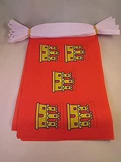 AZ FLAG Poitou-Charentes 6 Meters Bunting Flag 20 Flags 9'' x 6'' - French Region of Poitou-Charentes String Flags 15 x 21 cm