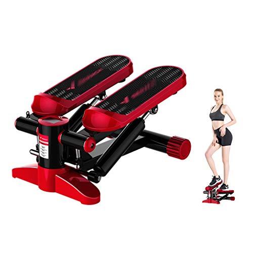 Máquinas de Cardio Stepper Home Stovepipe pequeña máquina de pérdida de Peso de Fitness Escalador Carga Que Lleva 100 kg Contador Inteligente (Color : Red, Size : 33 * 20 * 43cm)