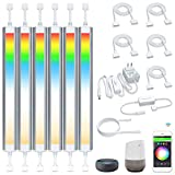 Smart Under Cabinet Lighting Strip Lights White and Colored Dimmable Compatible with Amazon Alexa Google Home and Smart Phone (6 Lights Bar Kit)