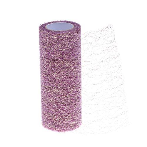 HEALLILY Tüll Band Netting Rollen Organza Stoff für hochzeitsdekoration Bogen Tutu Rock DIY Handwerk nähen 15 cm 10 Yards (lila)