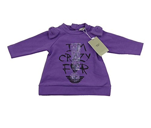 Armani bébé fille Violet T-shirt/Top 100% authentique Luxe SZ 6 m