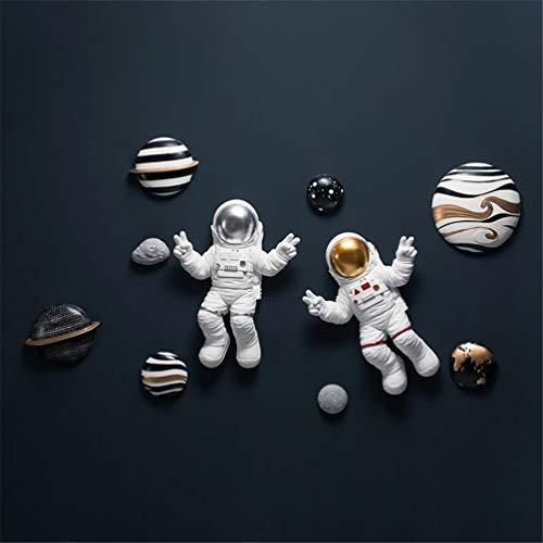 Planet Astronaut Sculpture Wall Hanging Décor Universe Galaxy Planet Wall...