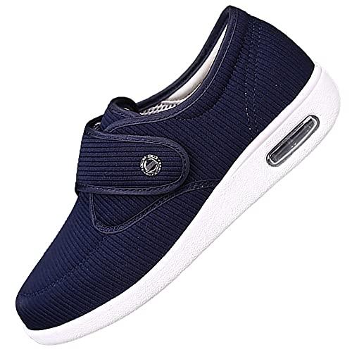 Hombres Para Mujer DiabéTico Zapatillas,Velcros Para Un Ajuste Idoneo Para Pies Delicados,blue_41