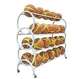 KANJJ-YU Balle rack stand Articles de sport 3 Niveau balle panier Sports de ballon Sports de ballon for rack Nourriture