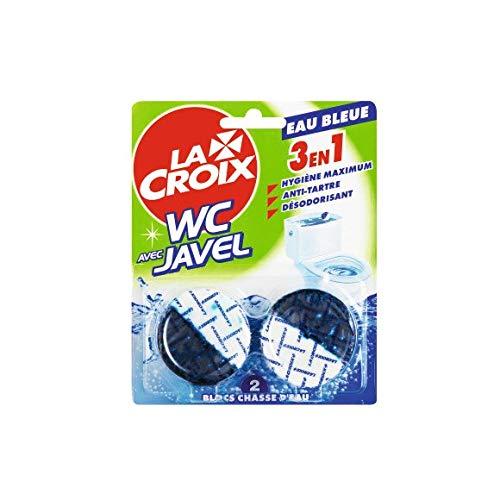La Croix - Wc Bloc Chasse Javel Eau Bleue - 96G - Lot De 4 - Livraison Rapide En France - Prix Par Lot