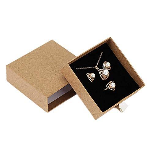 xiamenchangketongmaoyi Caja de Regalo Anillo cajitas de Carton para Regalos Cajón Caja de Collar Caja Colgante Organizador de la joyería Cajas de brazaletes para Mujer Bracelet Box