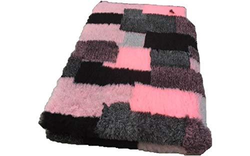 Vetbed -/ Drybed I Patchwork rosa-grau I 150 x 100 cm