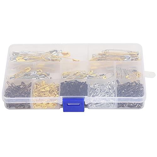 Juego de alfileres de seguridad, resistente combinación de alfileres de seguridad estándar de 620 piezas para ropa para coser alfileres para mantas para manualidades para suéteres para