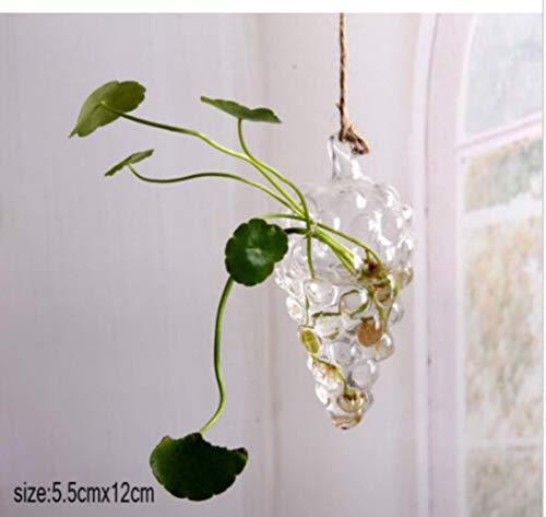 yoo Glazen Potten+Houten Frame Tafelblad Plant Bonsai Home Decor Bloem Glas Vazen Met Houten Lade Gereedschap