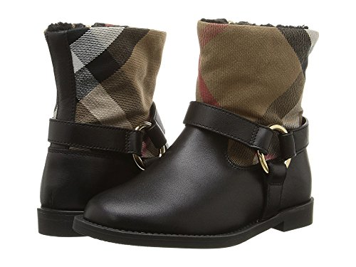 Burberry Kids Queenstead Shoe Toddler Black Girl's Shoes