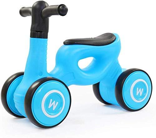 Veiligheidscadeau Kinderfietsen Baby-balanceerwagen, Loopstoeltje Kinderwagen met vierwielaandrijving Baby-scooter 1-3 jaar oud Geen pedaal (Kleur: zwart poeder, Maat: 22 inch)