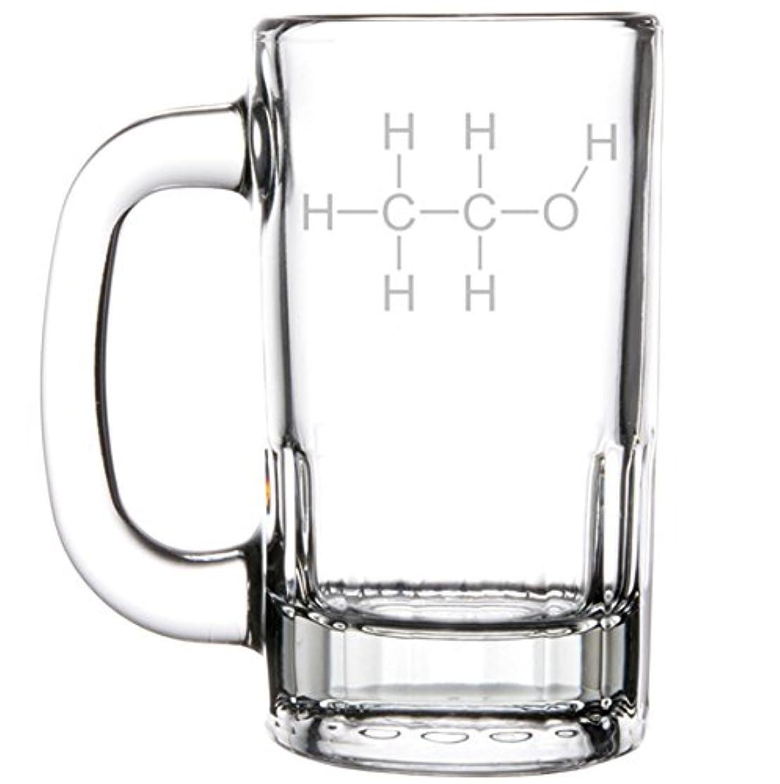 12oz Beer Mug Stein Glass Science Geek Nerd Alcohol Molecule