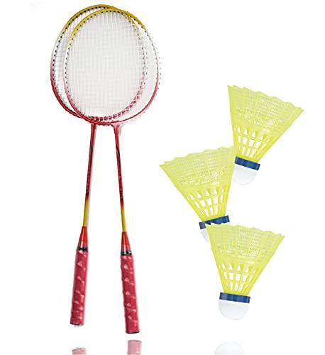 TK Gruppe Timo Klingler Badminton Erwachsene Federball Schläger Set inkl. 3X Federbälle Badmintonbälle für Training & Wettkampf