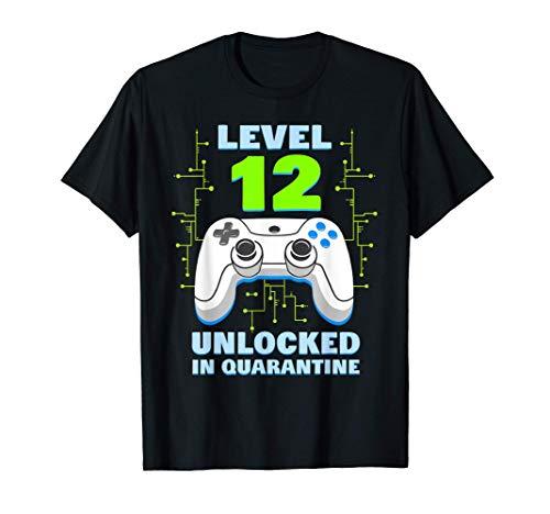 Level 12 Unlocked Quarantine Shirt Video Gamer 12th Birthday T-Shirt