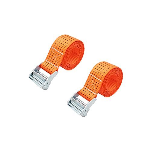 DSFHKUYB 2 Correas de Amarre de 2 m con Hebilla de Leva de liberación rápida, Cinturones de tensión Ajustables, Correa de Equipaje de Carga para portaequipajes de Techo de Coche,Width 50mm