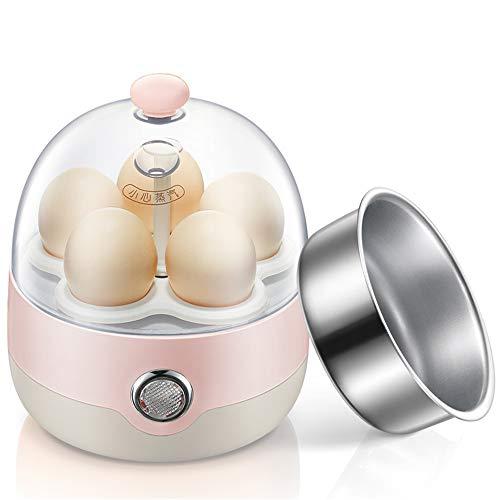 NNDQ Eierkocher, elektrischer Eierkocher, intelligente EIN-Knopf-Funktion, automatische Abschaltung, Kapazität von 5 Eiern für hart oder weich gekochte Eier - Rosa