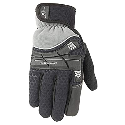 Wells Lamont Insulated Synthetic Leather High Visibility Work Gloves with Touch Screen Capability