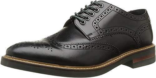 Base London Woburn Hi Shine Black Leather New Mens Formal Brogue Casual Shoes Boots-12