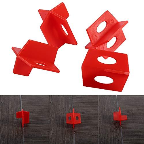 50 stuks herbruikbare tegels nivellering Alignment System sets, 3-zijdig T-vormig tegelrichtingsgereedschap voor 2 mm dwarskeramische tegelgaten.