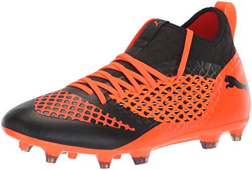 PUMA Men's Future 2.3 Netfit FG/AG Soccer Shoe, Black-Shocking Orange, 11 M US