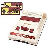 Donop Retro Game Console, AV Output 8-bit Classic Game Consoles Built-in 1000 Video Game with 2 Classic Controllers