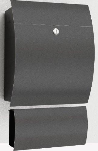 CMD Briefkasten Edition 77 Anthrazit, mit Zeitungsfach