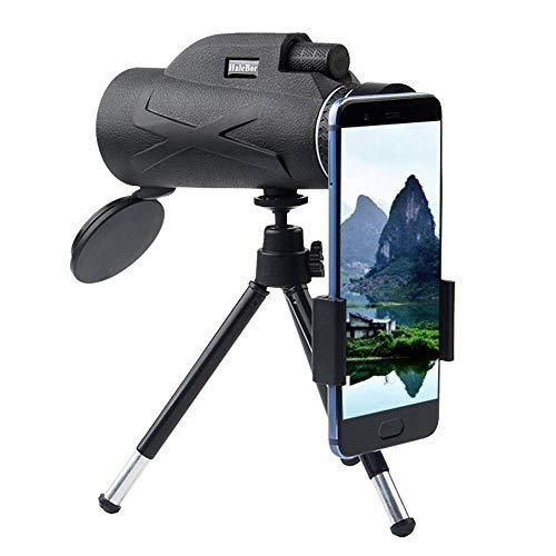 Telescopio Monocular, 80X100 HD Telescopio Terrestre con Trípode Y Adaptador para Smartphone Monoculares De Largo Alcance para Observación De Aves Caza Conciertos Viaje