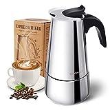 Stovetop Espresso Maker, Moka Pot, Godmorn Italian Coffee Maker 450ml/15oz/9 cup (espresso cup=50m),...