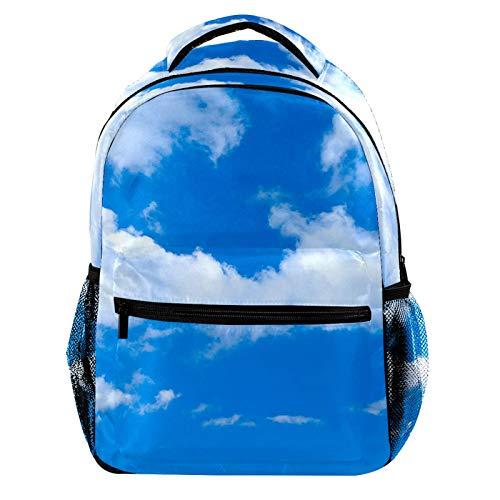 Clear Blue Sky Laptop Backpack for Men School Bookbag Travel Rucksack Daypack School Bag for Women Girls