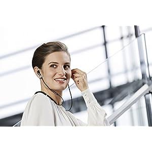 Jabra Evolve 75e UC Bluetooth Wireless in-Ear Earphones with Mic - Noise-Canceling
