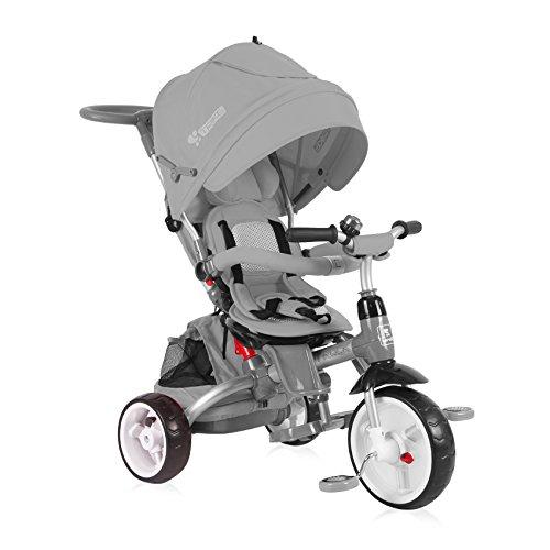 Lorelli 10050300005 driewieler, uitbreidbaar, voor baby/kinderen, Hot Rock, grijs
