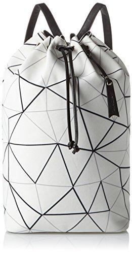 Boscha Damen Rucksackhandtasche Mehrfarbig (Black/White) BO-1187-EM_BLACK/WHITE