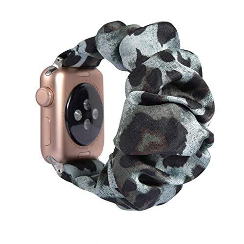 Bandas navideñas para Apple Watch 6 SE 5 4 Band 44mm / 42mm Scrunchie band Correa de nailon deportivo elástico para iwatch Series 5 4 38mm 40mm