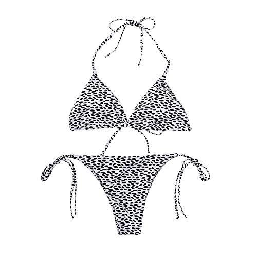 WORCSDJA Frauen Leopardenmuster Bikini Set Schwimmen Badeanzüge Badeanzug Badeanzug Schwimmen Anzug Für Frauen Tanga Bikini Badende Mayo